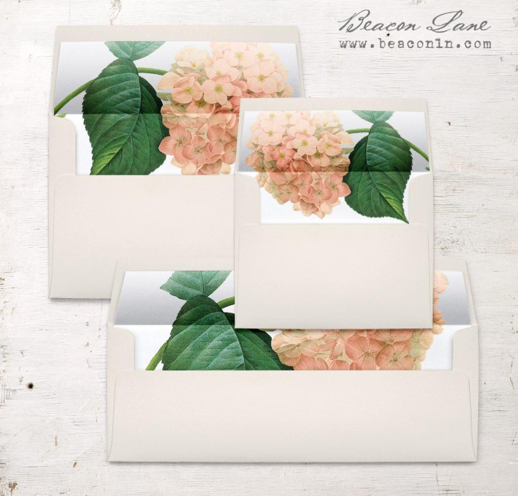 Blush Hydrangea Envelope Liner