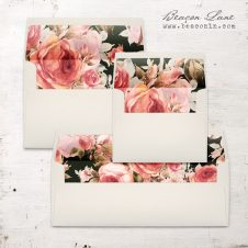 Blush Petals Envelope Liner
