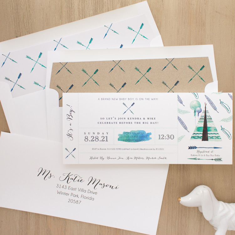 Top Baby Shower Themes |Tribal Baby Shower Invites by Beacon Lane
