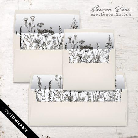 Boho Garden Envelope Liner