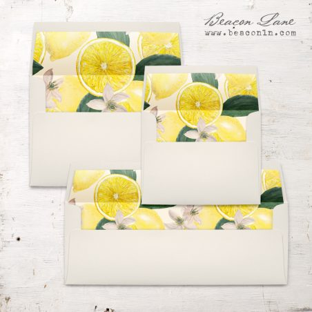 Bold Lemon Envelope Liner