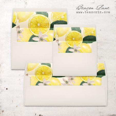 Bold Lemon Envelope Liner