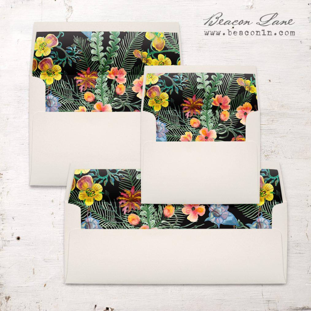 Bold Print Envelope Liner