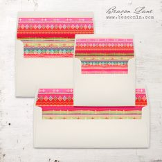 Bright Pattern Envelope Liner
