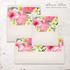 Bright Tropical Envelope Liner