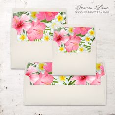 Bright Tropical Envelope Liner
