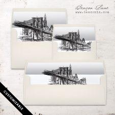 Brooklyn Bridge Envelope Liner