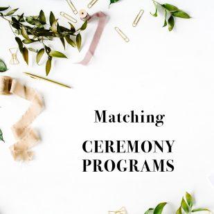 Corresponding Flat Ceremony Programs