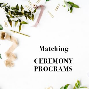 Corresponding Ceremony Booklet