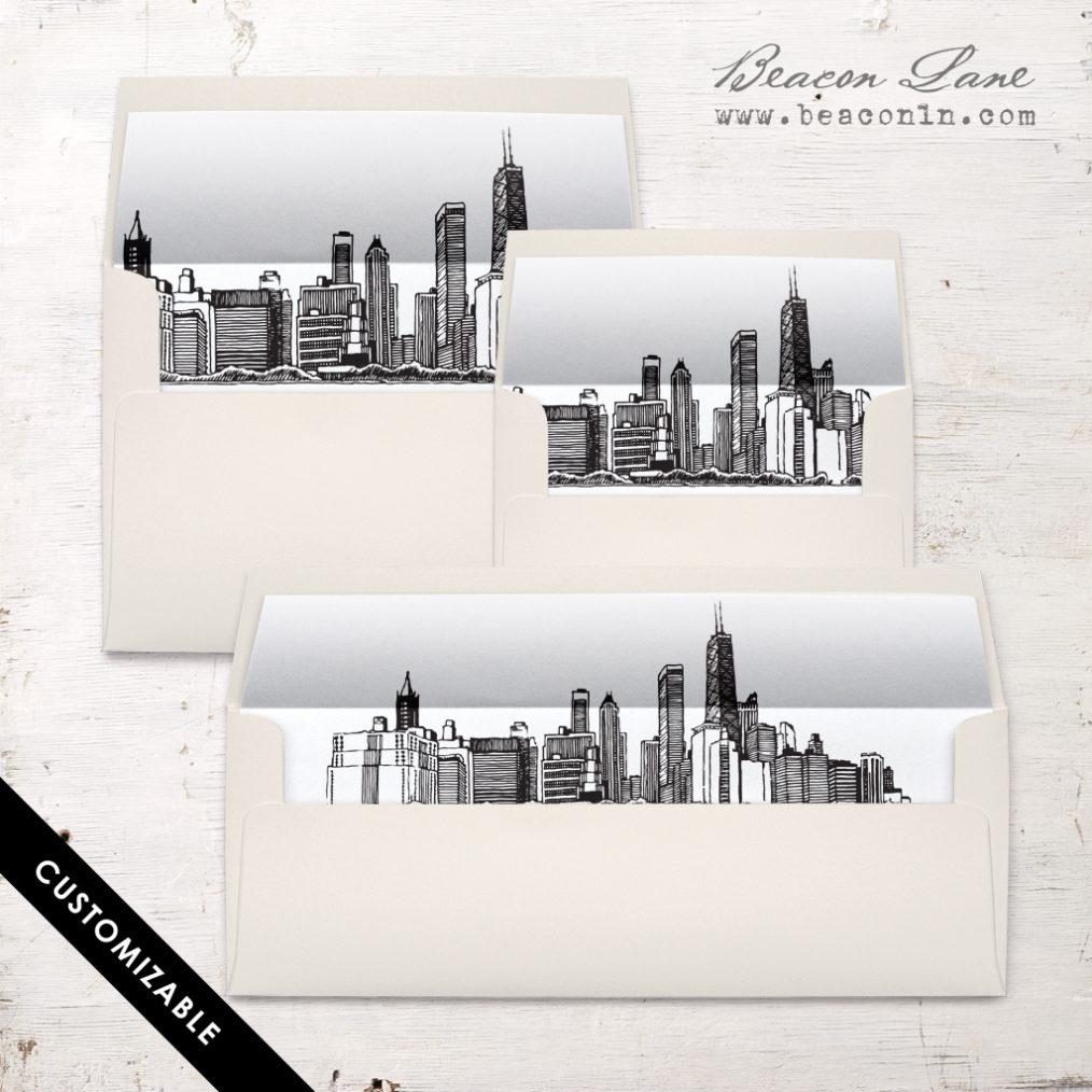 Chicago Skyline Envelope Liner