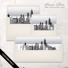 Chicago Skyline Envelope Liner
