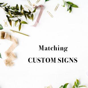 Corresponding Custom Signs