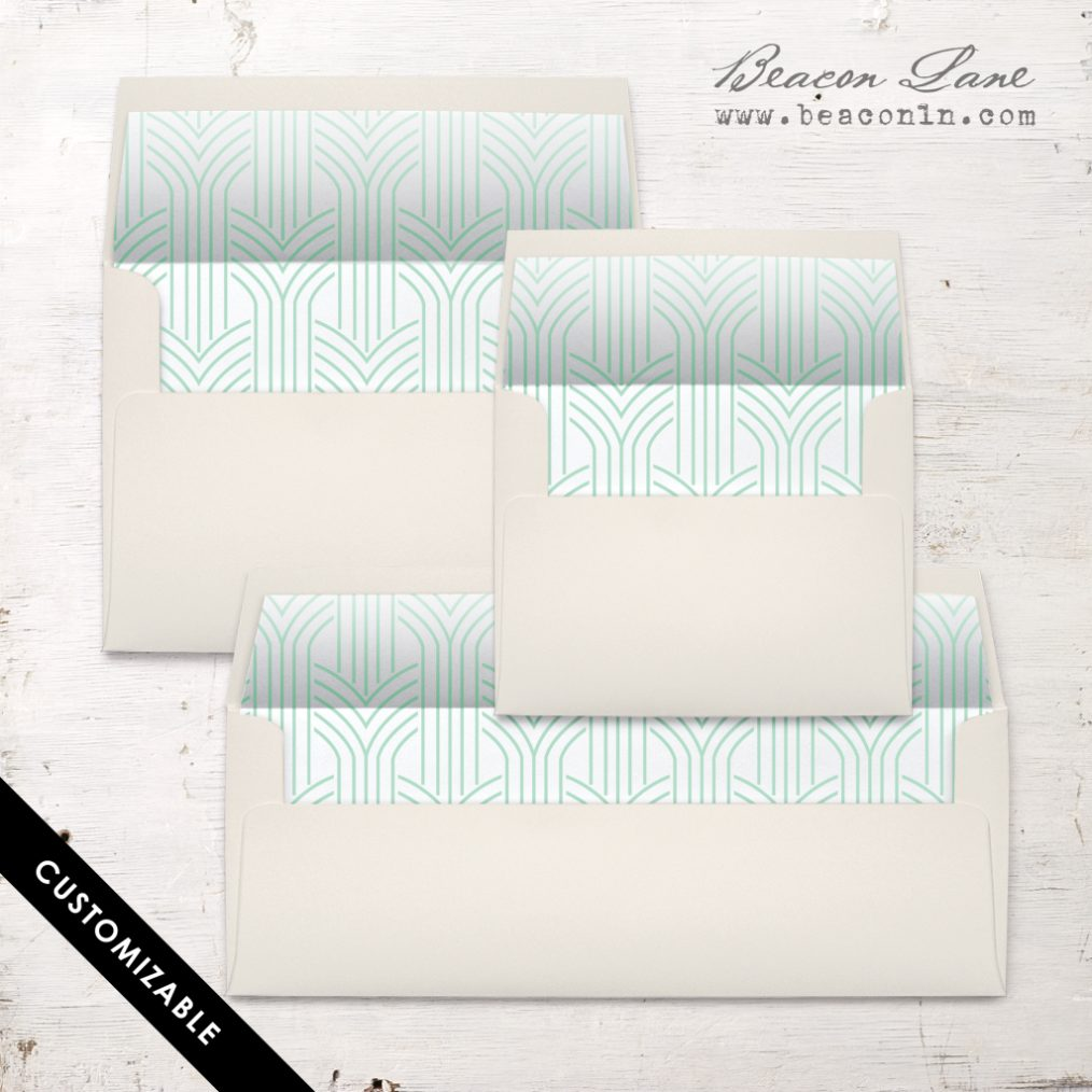 Deco Lines Envelope Liners
