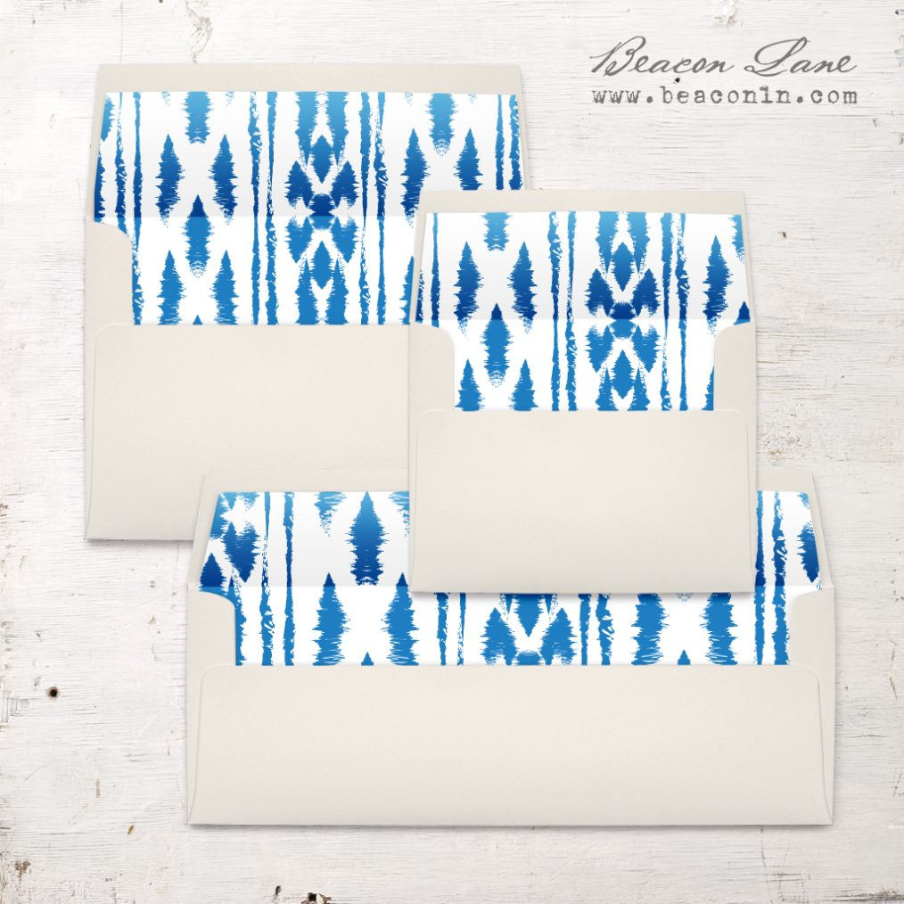 Denim Ikat Envelope Liner