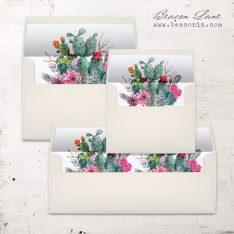Desert Blooms Envelope Liner