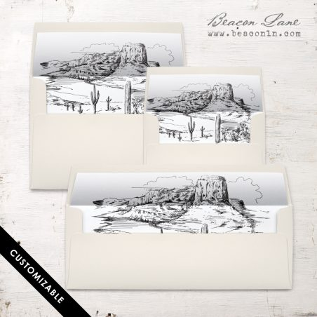 Desert Landscape Envelope Liner