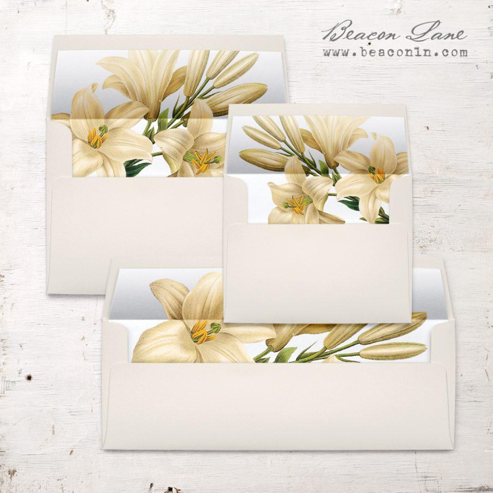 Elegant Garden Envelope Liners