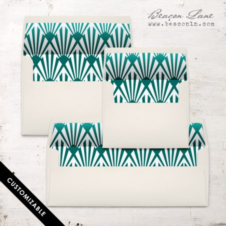Emerald Deco Envelope Liner