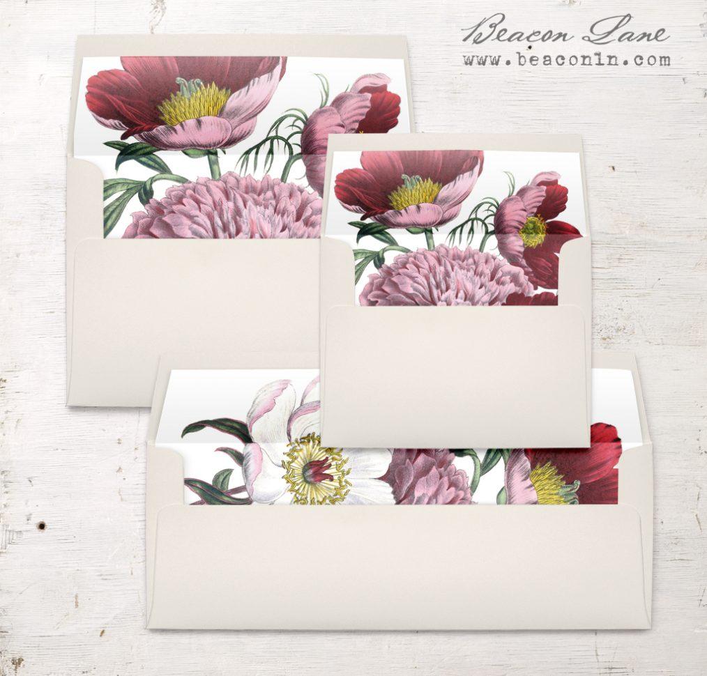 Floral Boho Envelope Liner