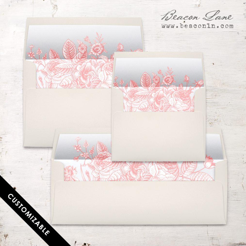 Garden Floral Envelope Liners