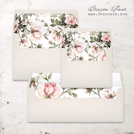 Garden Roses Envelope Liners