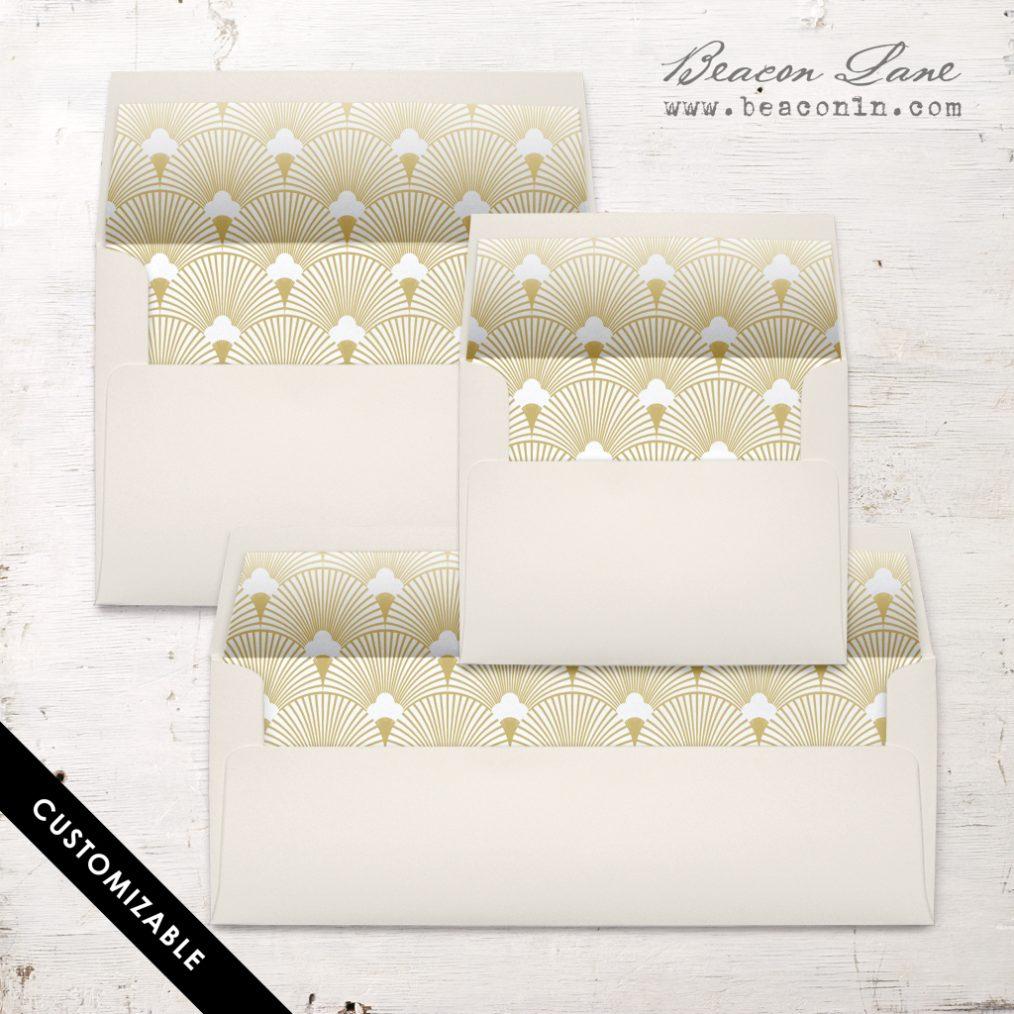 Gold Deco Envelope Liner