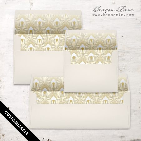 Gold Deco Envelope Liner