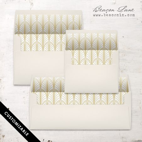 Gold Leaves Envelope Liner