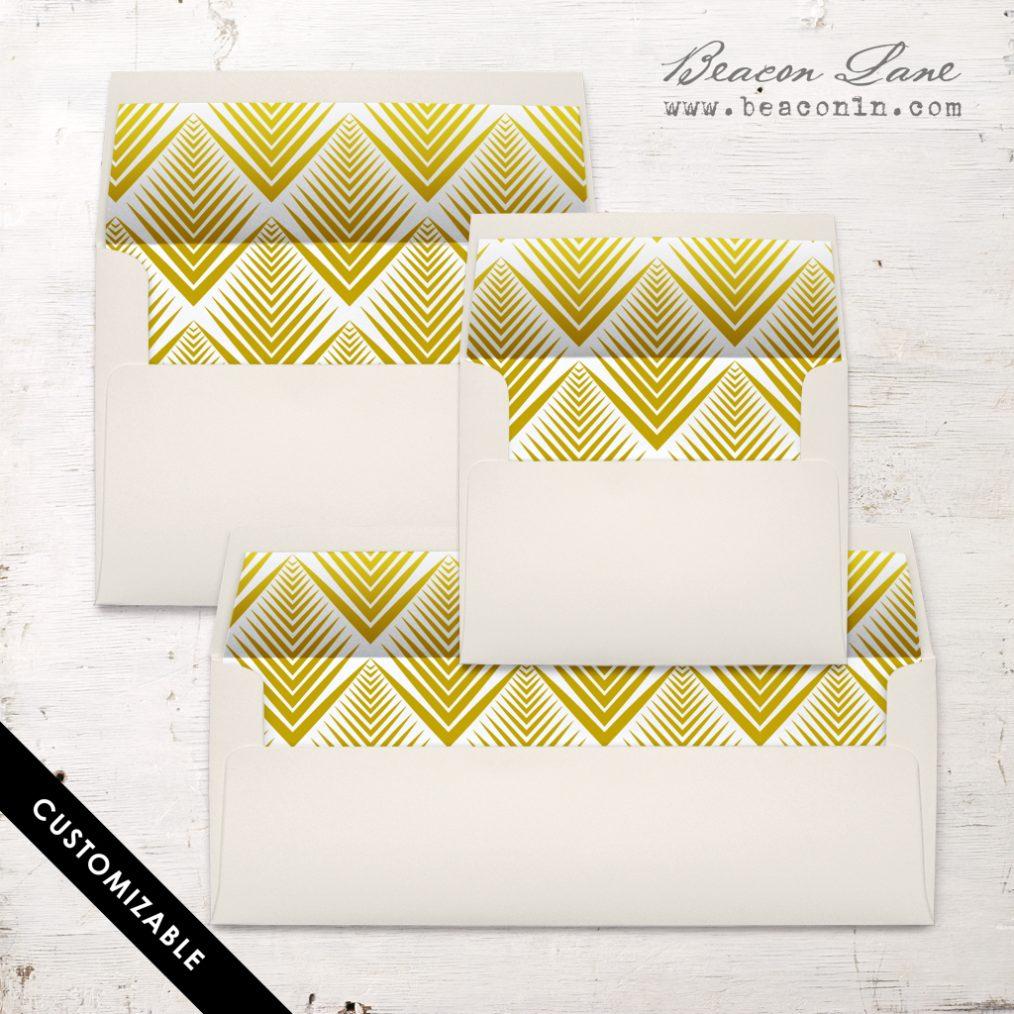 Gold Lines Envelope Liner