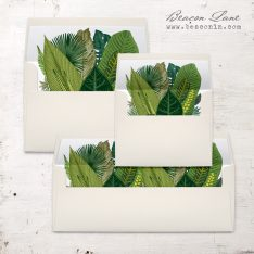 Green Leaf Envelope Liners