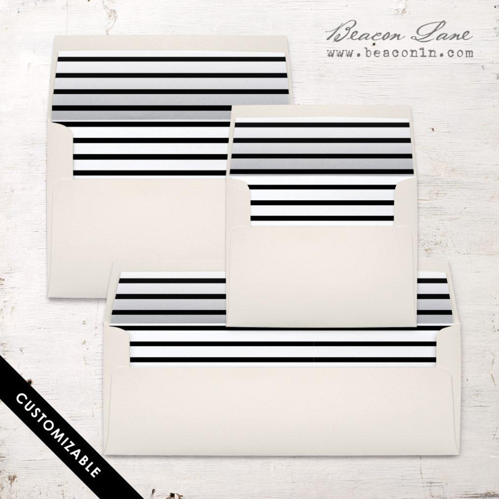 Horizontal Stripe Envelope Liner
