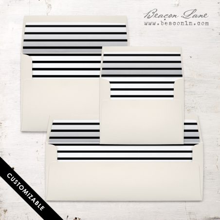 Horizontal Stripe Envelope Liner