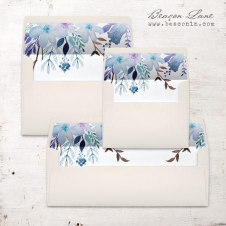 Indigo Blue Envelope Liner
