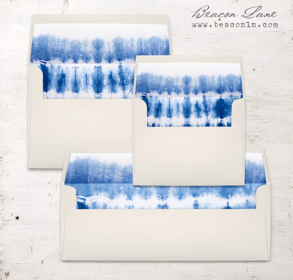 Indigo Blues Envelope Liner