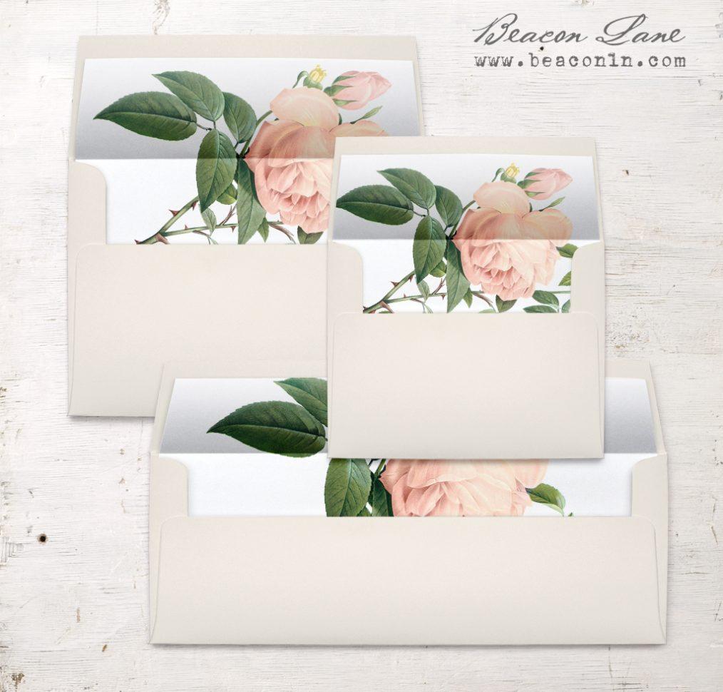 Ivory & Blush Envelope Liners