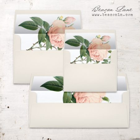 Ivory & Blush Envelope Liners