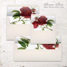 Jewel Tone Rose Envelope Liner