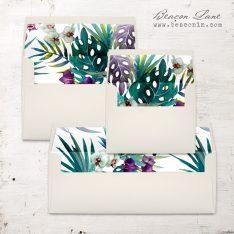Jewel Tone Tropics Envelope Liner