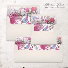 Magenta Burst Envelope Liner