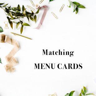 Corresponding Tented Menu Cards