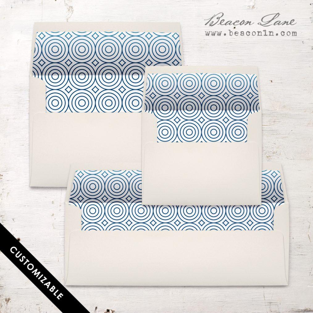 Modern Circles Envelope Liner