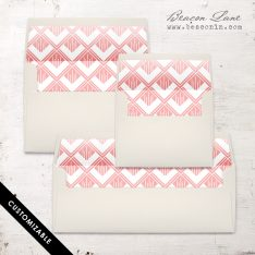 Modern Geometric Envelope Liner