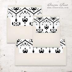 Modern Ikat Envelope Liner