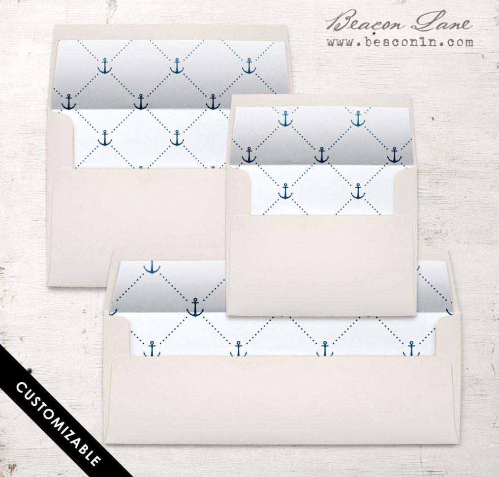 Nautical Cross Envelope Liner