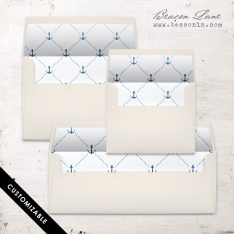Nautical Cross Envelope Liner