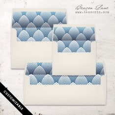 Navy Deco Envelope Liner