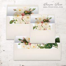 Navy Garden Rose Envelope Liner