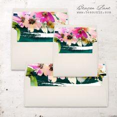 Painted Floral Envelope Liner