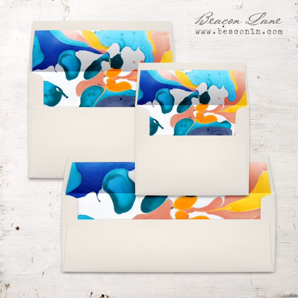 Painterly Envelope Liner
