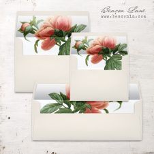 Pastel Peony Envelope Liners